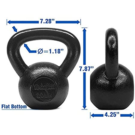 Great for Full Body Workout and Strength Training Yes4All Solid Cast Iron Kettlebell Weights Set