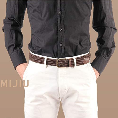 Uomo Multicolore Per Desiderio Tessuto Di Coffee Confezione Cinture Pantaloni Elastico Casual Fibbia Regalo aSx4xqg5