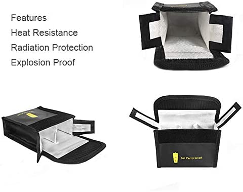 Fireproof Explosion-Proof Lipo Battery Safe Bag Charge Protection Guard Pouch for Parrot ANAFI RC Drone O/'woda ANAFI Battery Bag