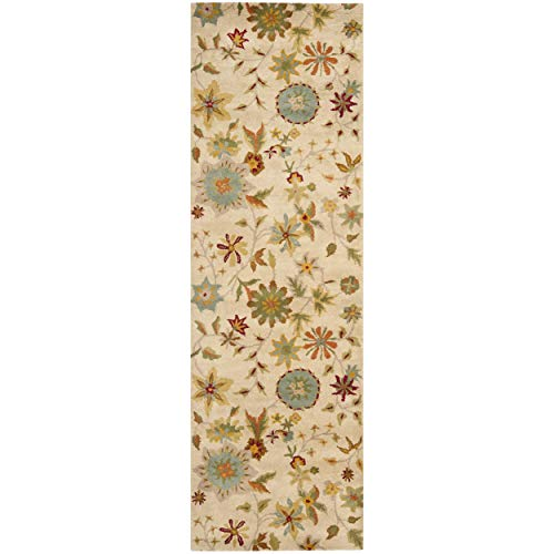 Safavieh Soho Collection SOH702A Handmade Ivory and Sage Premium Wool Area Rug 3 6 x 5 6