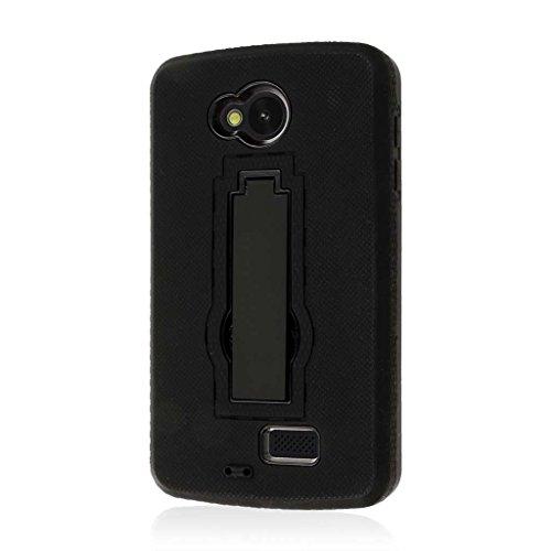 LG Transpyre/Tribute Case, MPERO Impact XS Series Kickstand Case for LG Optimus F60 / F60 / Transpyre/Tribute LS660 - Black (Case Phone Lg Transpyre)