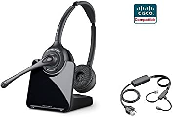 Amazon Com Cisco Compatible Plantronics Cs520 Voip Wireless Headset Bundle With Electronic Remote Answer End And Ring Alert Ehs For 6945 7821 7841 7861 7942g 7945 7945g 7962g 7965g 7975 7975g Office Products