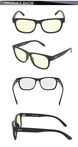bb9627f806 DUCO Blue Light Blocking Glasses Gamer Glasses and Computer Eyewear Anti-Glare  Protection Anti-
