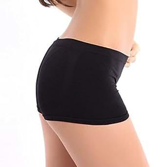Tonsee New Fashion Women Yoga Sports Skinny Shorts Pants (Black)