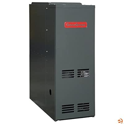 Goodman GMS81005CN Gas Furnace, Single-Stage Burner/Multi-Speed Blower, Upflow/Horizontal - 100,000 BTU