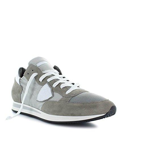 Philippe Model Scarpe da Uomo Sneaker Tropez Basic Grigio/Bianco Primavera Estate 2018