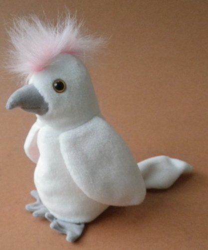 TY Beanie Babies KuKu Cockatoo Bird Plush Toy Stuffed Animal