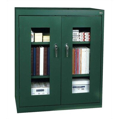 Sandusky Lee CA2V361842-06 Elite Series Clear View Counter Height Storage Cabinet, 18