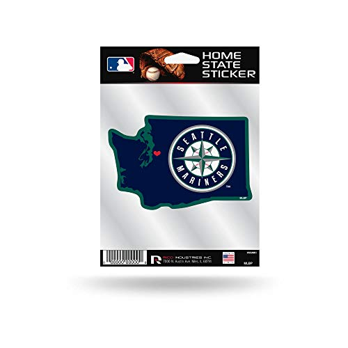 (Rico Industries, Inc. Seattle Mariners Home State Sticker Flat Die Cut Decal Emblem Auto Home)