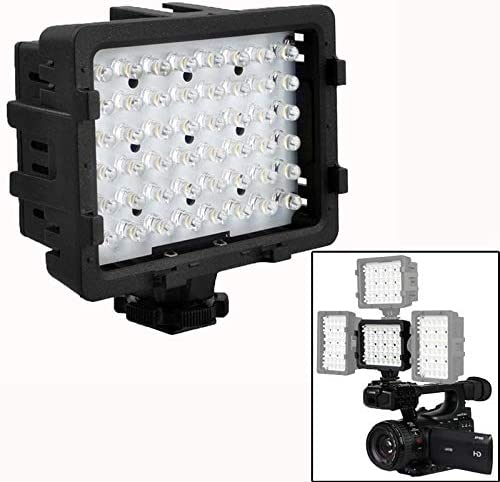 Protective Case for Sports Camera 48-LED Video Light with 2 Filters for Camera//Video Camcorder CN-48H