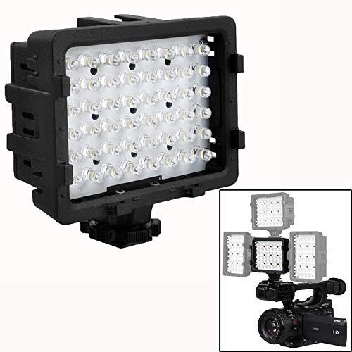 カメラ/ビデオカメラ用2フィルター付き48 LEDビデオライト(CN-48H)(ブラック) ハイクオリティ   B07RGC23D9