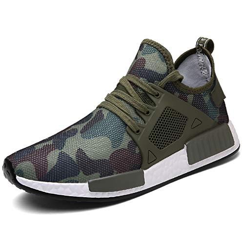 Loisir Chaussures Fitness En De Vert Respirant Solshine Sport D'amortissement Lacent Course Des Hommes Mesh 7qwxp15PB