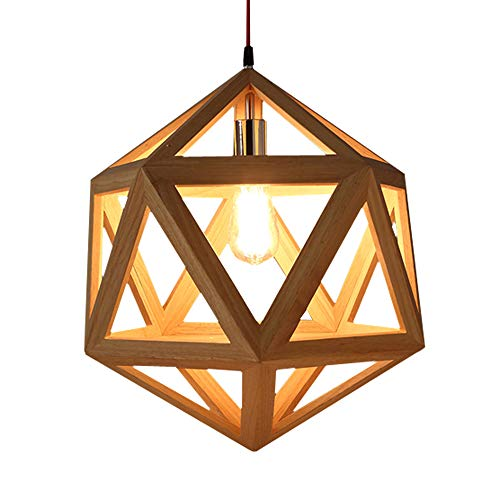 XINDA Pendant Lighting Industrial Natural Hexagon Loft Style Cage Large Ceiling Hanging Lamp Vintage Decorative Fixture