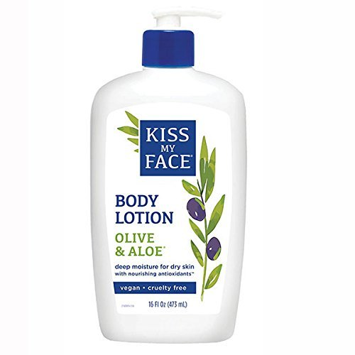 Kiss My Face Essential Oils Body Lotion - Kiss My Face Olive & Aloe Moisturizing Body Lotion, 16-Ounce Bottles (pack of 3)
