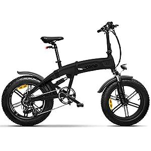 "419AyyTsoiL. SS300 icone Total Deep Black, Fat-Bike Bicicletta Elettrica Pieghevole a Pedalata Assistita 20"" 250W Icon.E iCross X7 Gioventù Unisex, No Size"