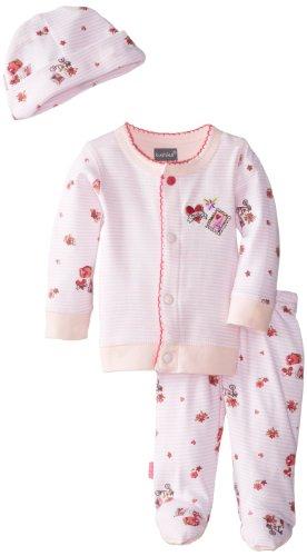 Kushies Baby-Girls Newborn Take Me Home Set Bon Voyage, Pink, 1 Month