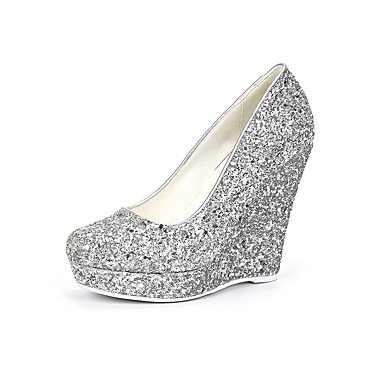 Evening 5 Uk7 Women'S Wedding Spring US9 Casual Heels Dress Us9 8 Gladiator amp;Amp; amp;Amp; Career CN41 Silver Heel Wedge Sequin UK7 5 Synthetic Zormey Summer Office Party Cn42 10 Eu41 EU40 7YSqwgdg
