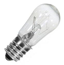 25 Qty. Halco 6W S6 CL Candelabra 145V Halco S6CL6/145V 6w 145v Incandescent Clear Lamp Bulb
