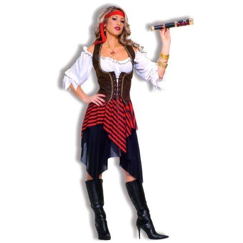 Forum Novelties Women's Sweet Buccaneer Pirate Costume, Black/Red, Standard