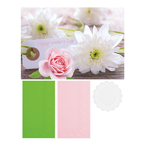 Hoffmaster 856779 Mothers Day Combo Packs, Placemats, Coordinating Decorator Napkins with Bonus 5'' Lace Doilies All in A Dispensing Box, 9.75'' Length x 14'' Width (Pack of 750) by Hoffmaster (Image #4)