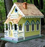 Home Bazaar CM-1003 Claire Murray Victorian Cottage Bird House - CM-1003,