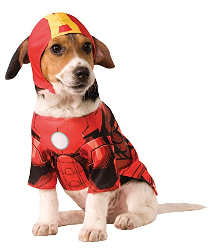 [Rubies Costume Company Marvel Classic/Marvel Universe Iron Man Pet Costume, Large] (Iron Man Cat Costume)