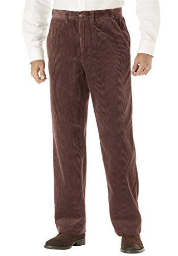 KingSize Men's Big & Tall Six-Wale Corduroy Plain Front Pants, (Plain Front Corduroy Pants)