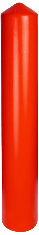 Eagle 1736 HDPE 6'' Smooth/Bollard Post Sleeve, Yellow, 7.375'' OD, 56'' Height