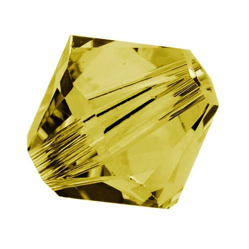 24 pcs Swarovski Crystal Bicone 5301/5328 Beads, Lime, 4mm