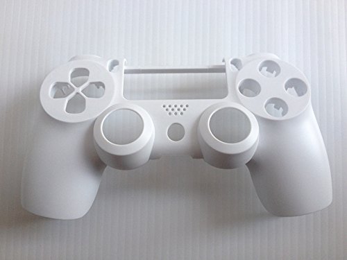 (White Matte Front Replacement Housing Shell Case Cover Compatible for PlayStation PS 4 PS4 Controller DualShock 4)