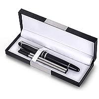 Encre Noire Or Fine Laiton Stylo /à bille TIANSE Stylo-Bille R/étractable Pointe Coffret Cadeau 0,7 mm