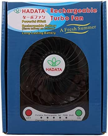 Color : Black Black Electric Fans PIWIDHSKKAHa USB Fans Hadata 4.3 inch Portable USB//Li-ion Battery Powered Rechargeable Fan with Third Wind Gear Adjustment /& Clip