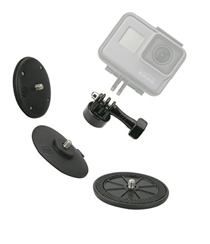 SCOSCHE AMK1-BPO Closeup PROKIT Universal Action Camera Mount Kit with Three Mounting Bases Included Magnetic, Adhesive and Suction for Indoor/Outdoor Use in Frustration Free Packaging