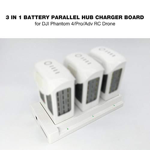 eegwbang Tablero de Cargador de Cubo Paralelo de batería 3 en 1 ...