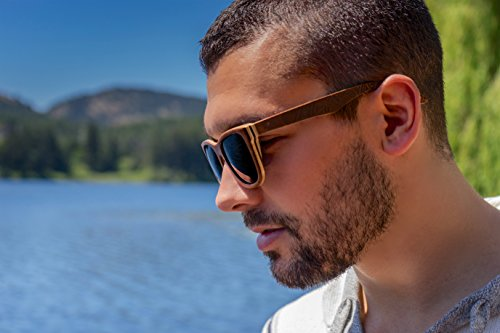 a1a3155b62 Wood Sunglasses made from Maple Cherry-100% polarized lenses in a wayfarer  that