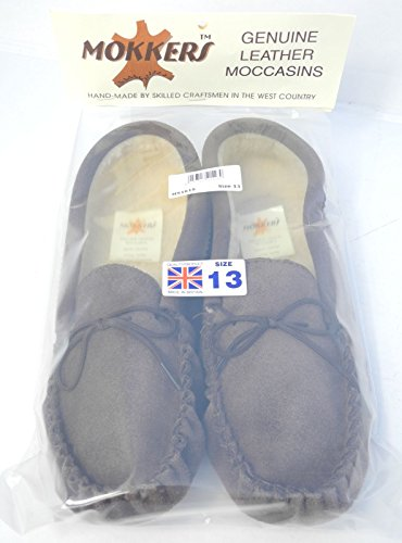 Brown Brown Sheepskin Mens Blue Moccasin 13 Suede Leather Real Faux 6 Size Mokkers Slippers qwU4wFO