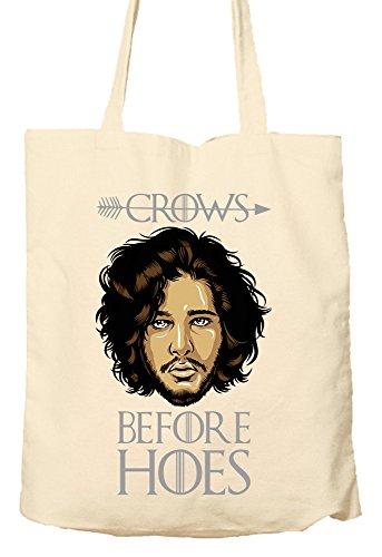 Crows Before Hoes–Game Of Thrones Parody–Umweltfreundlich Tasche, Natural Einkaufstasche