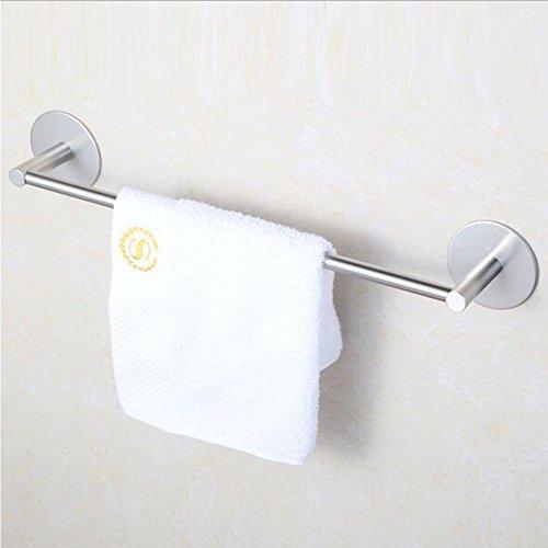 (Towel Bar Rail Holder Hanger,Ulifestar 16''Heavy Duty 3M Self Adhesive Stainless Steel Wall Door Hanging Rack Accessories for Bathroom Kitchen Hotel Storage & Organizer)