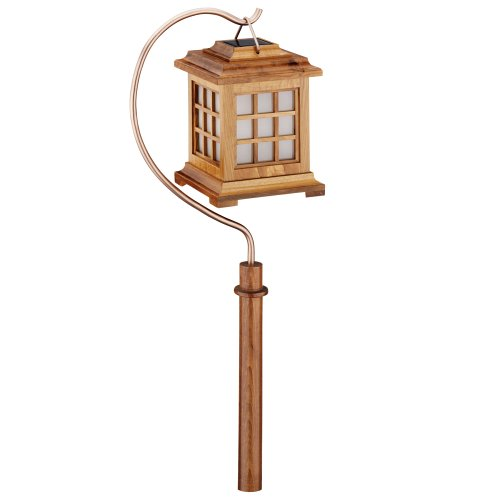 Malibu Outdoor One Light - Malibu Outdoor One-Light Solar-Powered Wooden Pagoda Light, LZ502