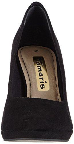 Tamaris 22417 - zapatos de tacón cerrados de material sintético mujer negro - Schwarz (Black/Gold 012)