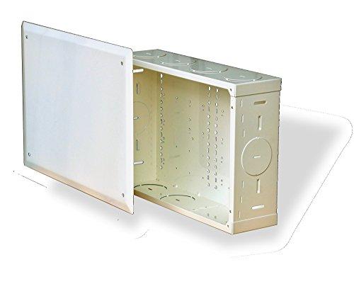 (Benner-Nawman 14104-MM Structured Wiring Cabinets, 14-1/4-Inch X 10-Inch X 4-Inch, White)