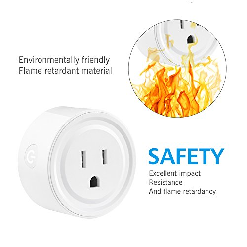 Wifi Smart Plug works with Alexa, Mini Smart Outlet Echo & Echo Plug, Google Home, Smart Home Devices, No Hub Required Wifi Mini Socket, Wifi Remote Socket Control Your Devices from Anywhere (2 Pack) by EZH (Image #5)
