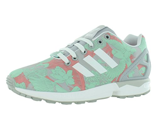 adidas Originals Women's ZX Flux W Lace Up Fashion Sneaker, Dark MarineWhiteDark Marine, 5.5 M US
