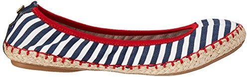 Butterfly Stripe 040 Bailarinas para Navy BT21 040 White Mujer Gigi Twists wwa4qOSA