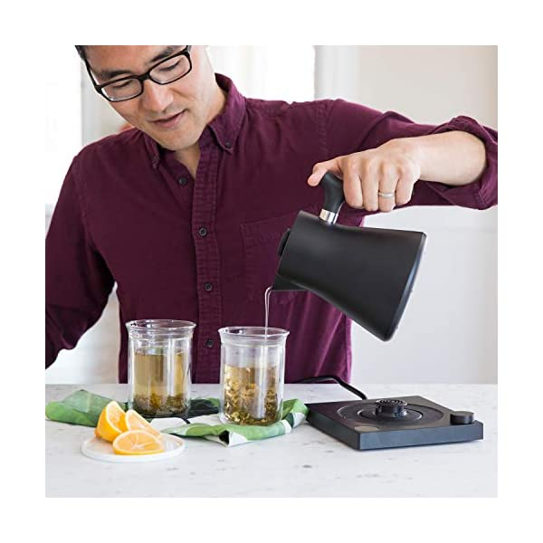 Fellow Corvo EKG Electric Kettle For Tea And Coffee, Matte Black, Variable Temperature Control, 1200 Watt Quick Heating… 3