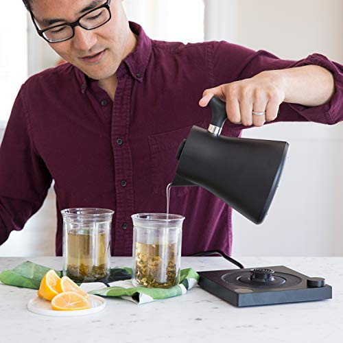 Fellow Corvo EKG Electric Kettle For Tea And Coffee, Matte Black, Variable Temperature Control, 1200 Watt Quick Heating, Built-In Brew Stopwatch by Fellow (Image #2)