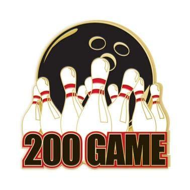 Crown Awards 200 Game Bowling Lapel Pins - Bowling Enamel Pin Prime