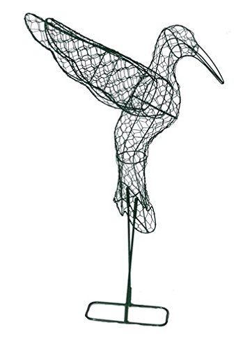 Hummingbird 22 inches high 20 inches long 12 inches wide Topiary Frame, Handmade Animal Decoration