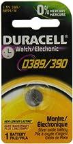 Duracell D389/390PK Watch / Electronics Battery, 1.5 Silver Oxide