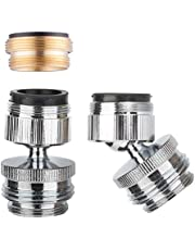 Faucet Adapter Kit Swivel Aerator Adapter to Connect Garden Hose - Multi-Thread Garden Hose Adapter for Male to Male and Female to Male - Chrome Finished